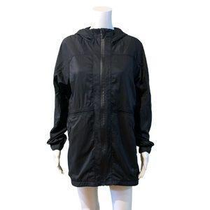 Lululemon In The Clear Jacket Black Long Rain Coat